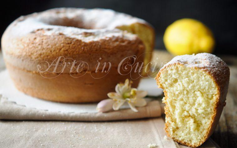 Ciambella soffice al limone senza burro anche bimby