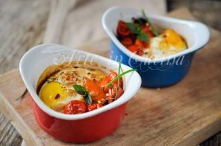 Cocotte uova e peperonata ricetta veloce vickyart arte in cucina