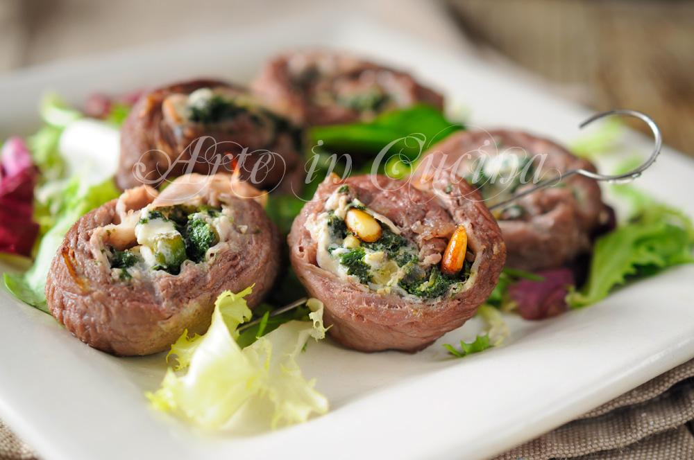 Girandole di carne farcite alla griglia veloci vickyart arte in cucina