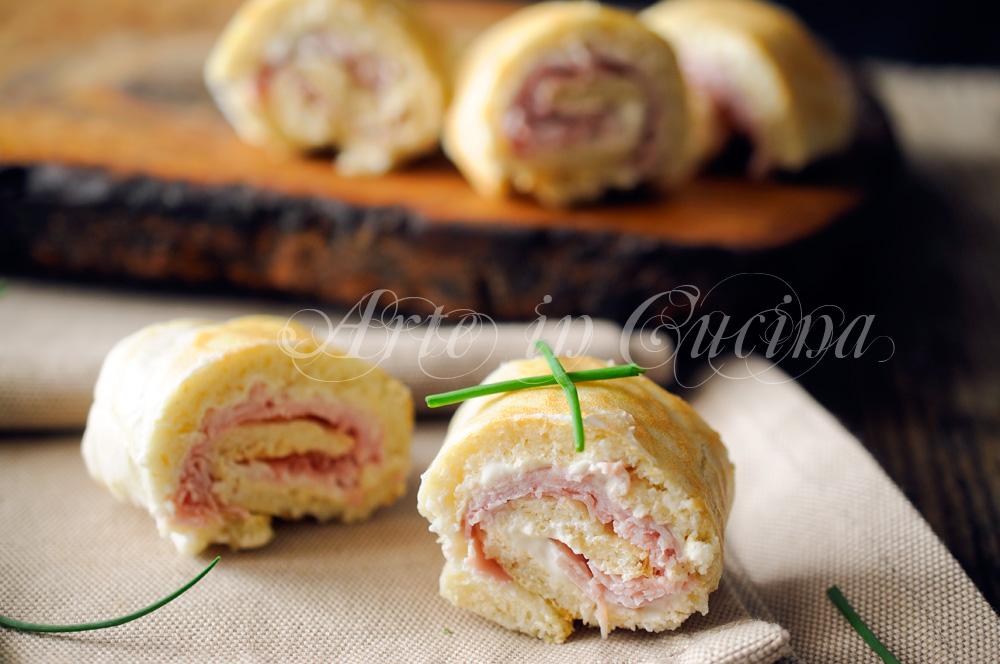 Girelle di albumi farcite light facili e veloci for Ricette di cucina italiana facili