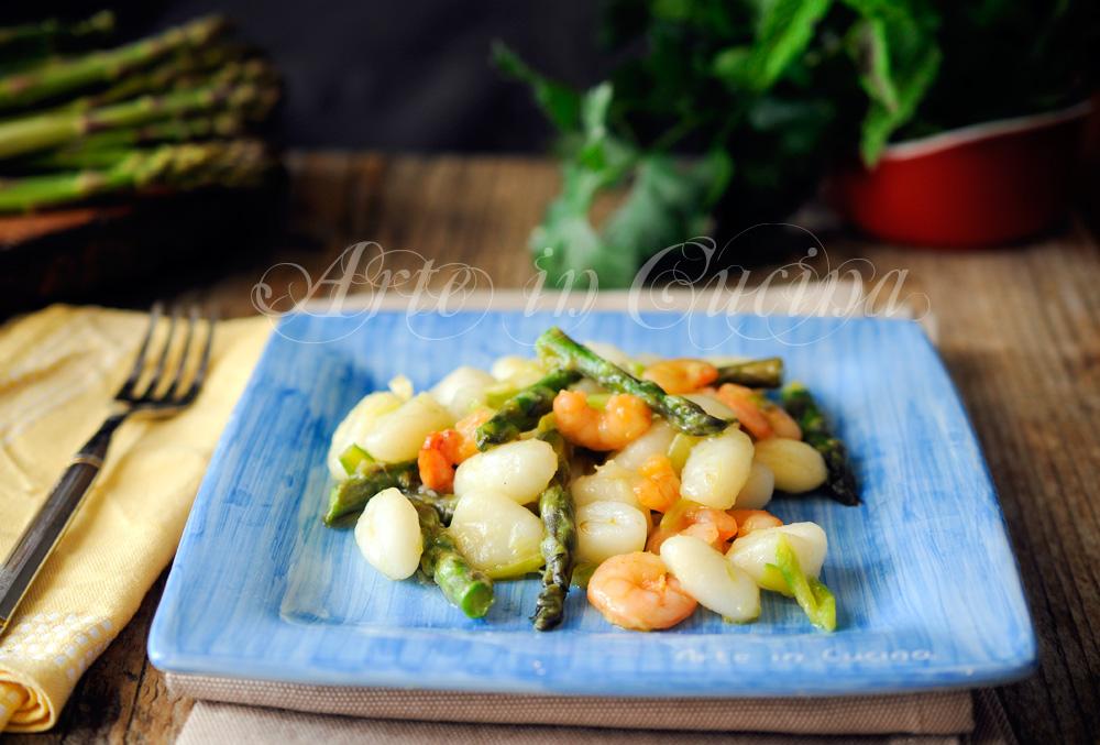 Gnocchi asparagi e gamberetti ricetta veloce vickyart arte in cucina