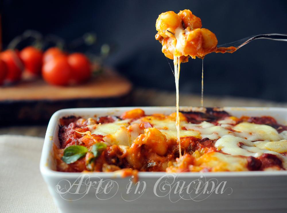 Gnocchi con melanzane a funghetto al forno vickyart arte in cucina