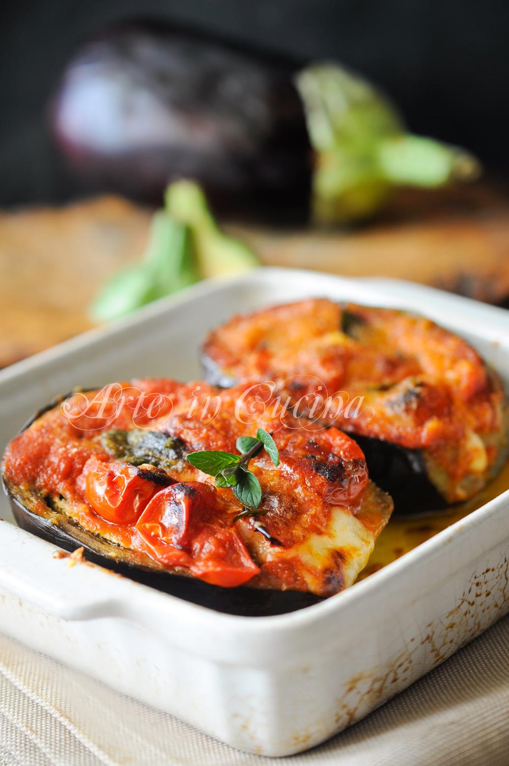 Melanzane alla siciliana ripiene veloci e facili arte in for Ricette facili cucina