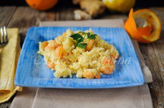Risotto agli agrumi e gamberi ricetta primo piatto vickyart arte in cucina