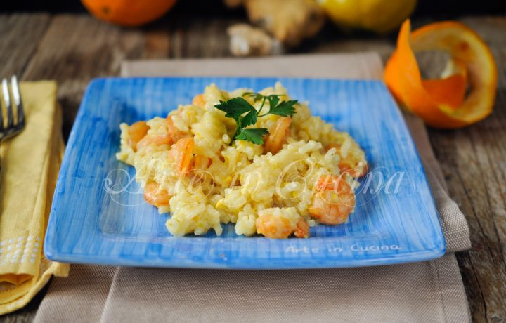 Risotto agli agrumi e gamberi ricetta primo piatto