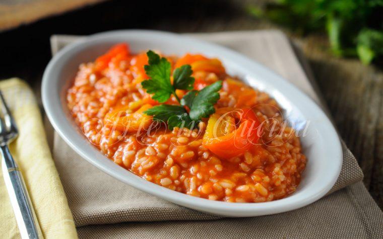 Risotto ai peperoni ricetta primo facile