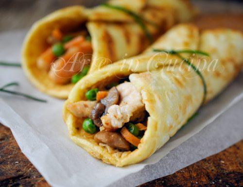 Rotolini con carne e verdure ricetta economica