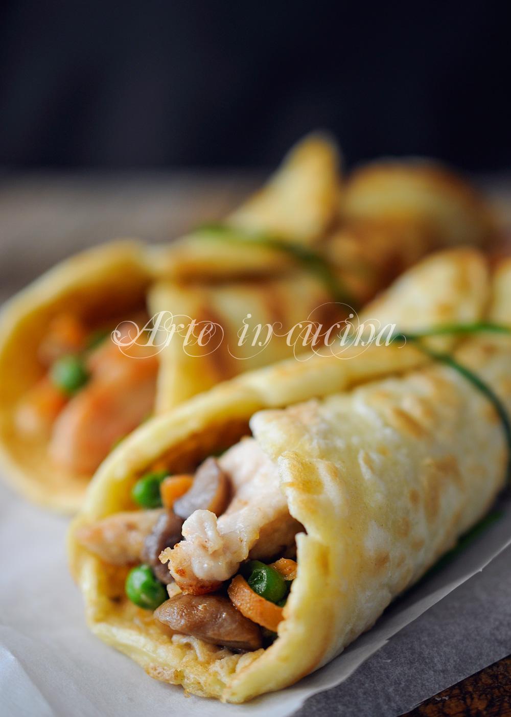 Rotolini con carne e verdure ricetta economica vickyart arte in cucina
