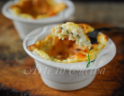 Souffle ai formaggi e prosciutto ricetta facile