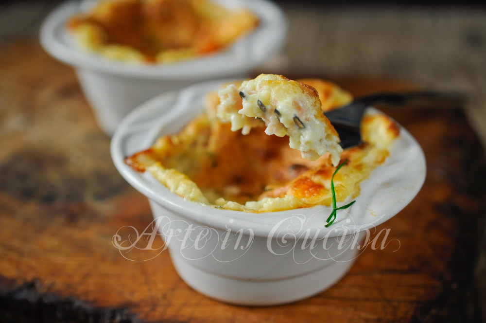 Souffle ai formaggi e prosciutto ricetta facile vickyart arte in cucina