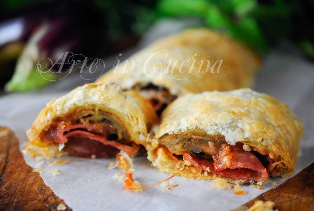 Strudel salato con melanzane alla parmigiana vickyart arte in cucina