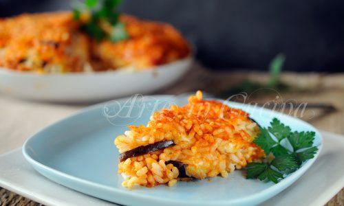 Timballo di riso con melanzane ricetta siciliana
