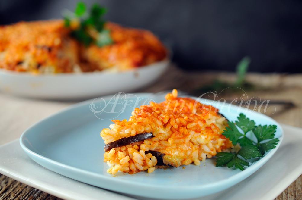 Timballo di riso con melanzane ricetta siciliana for Ricette in cucina