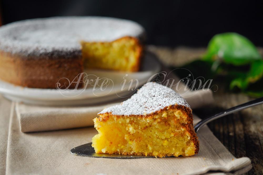 Torta all'arancia e limone senza burro ricetta veloce