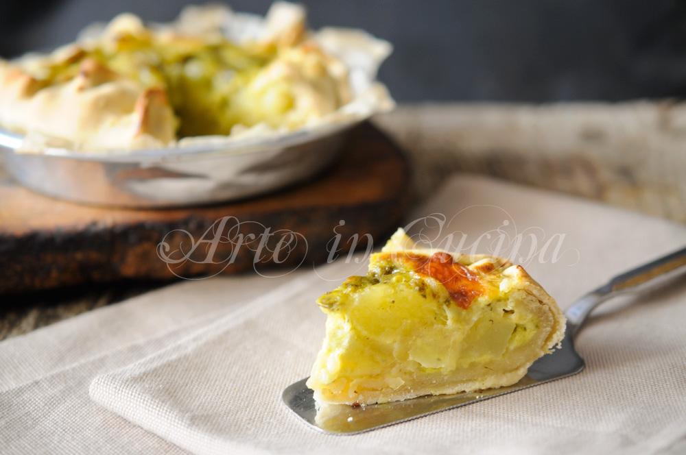 Torta di patate pesto e stracchino ricetta ligure vickyart arte in cucina