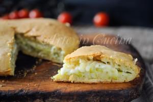 Torta salata ad impasto molle con verdure