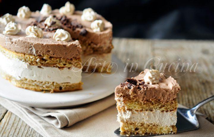 Torta semifreddo caffè e cioccolato veloce