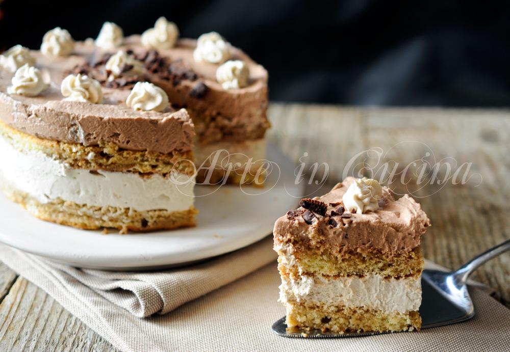 Torta semifreddo caffè e cioccolato veloce vickyart arte in cucina
