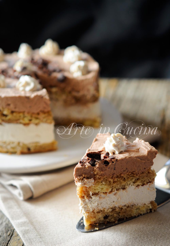 Torta semifreddo ricotta e cioccolato veloce vickyart arte in cucina