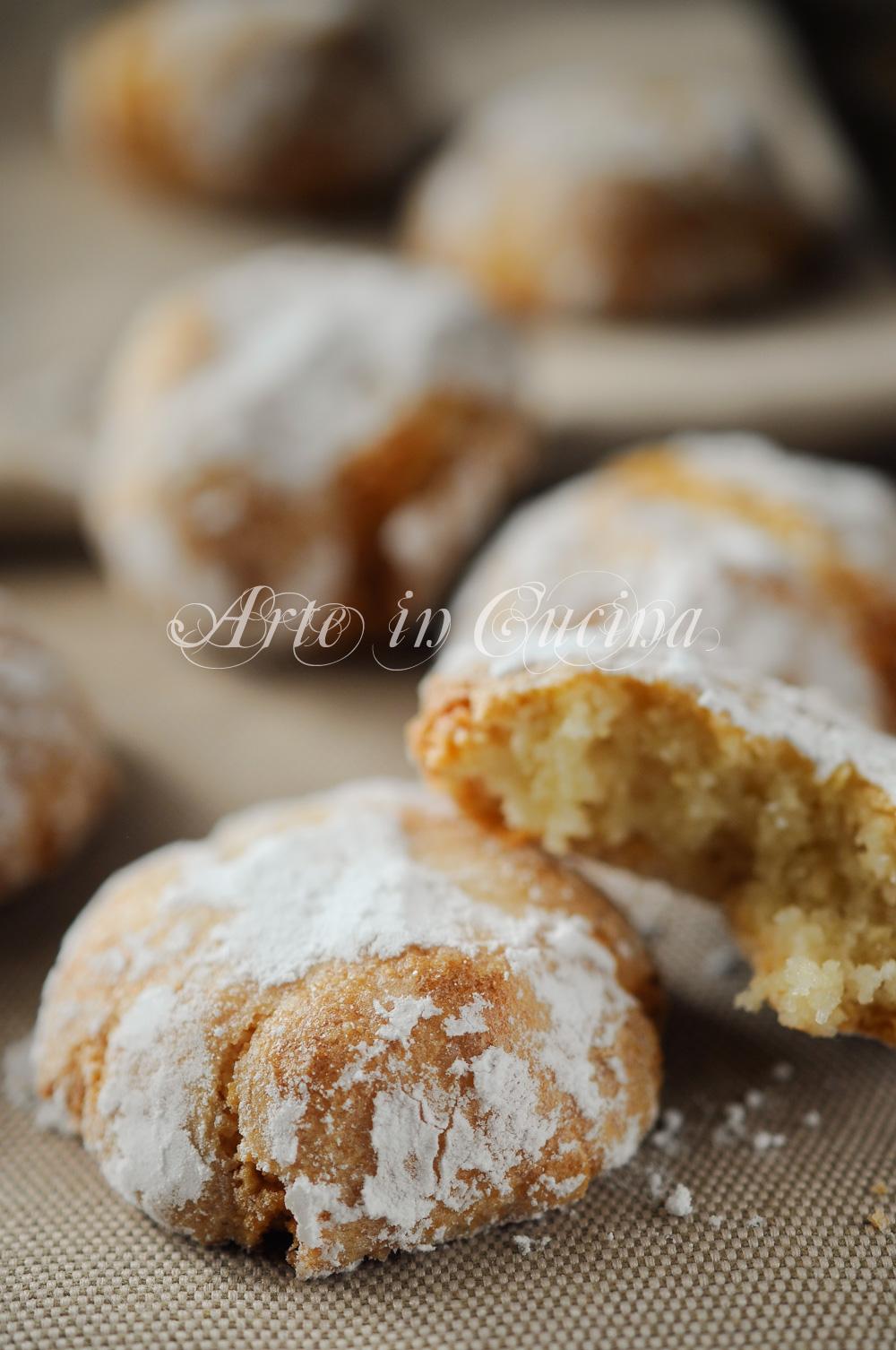 Amaretti morbidi facili e veloci ricetta biscotti arte in cucina - Cucina macrobiotica dolci ...