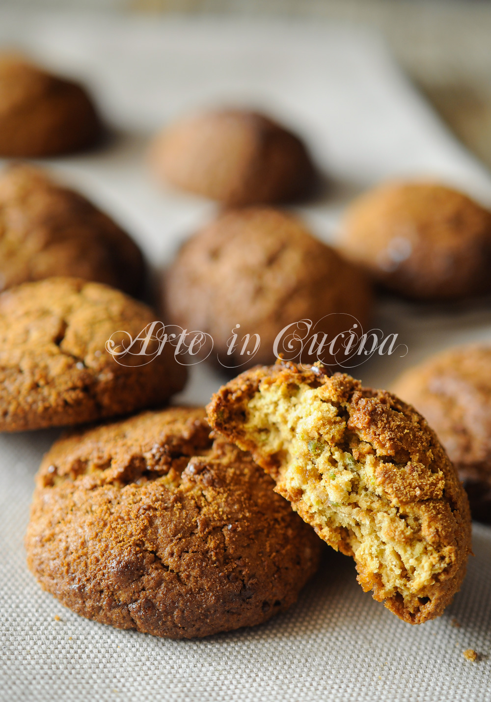 Biscotti integrali al pistacchio ricetta veloce vickyart arte in cucina