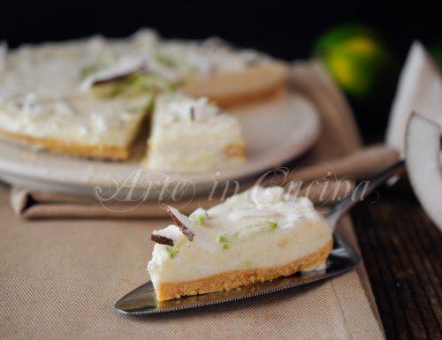 Cheesecake al cocco e lime alla ricotta dolce veloce