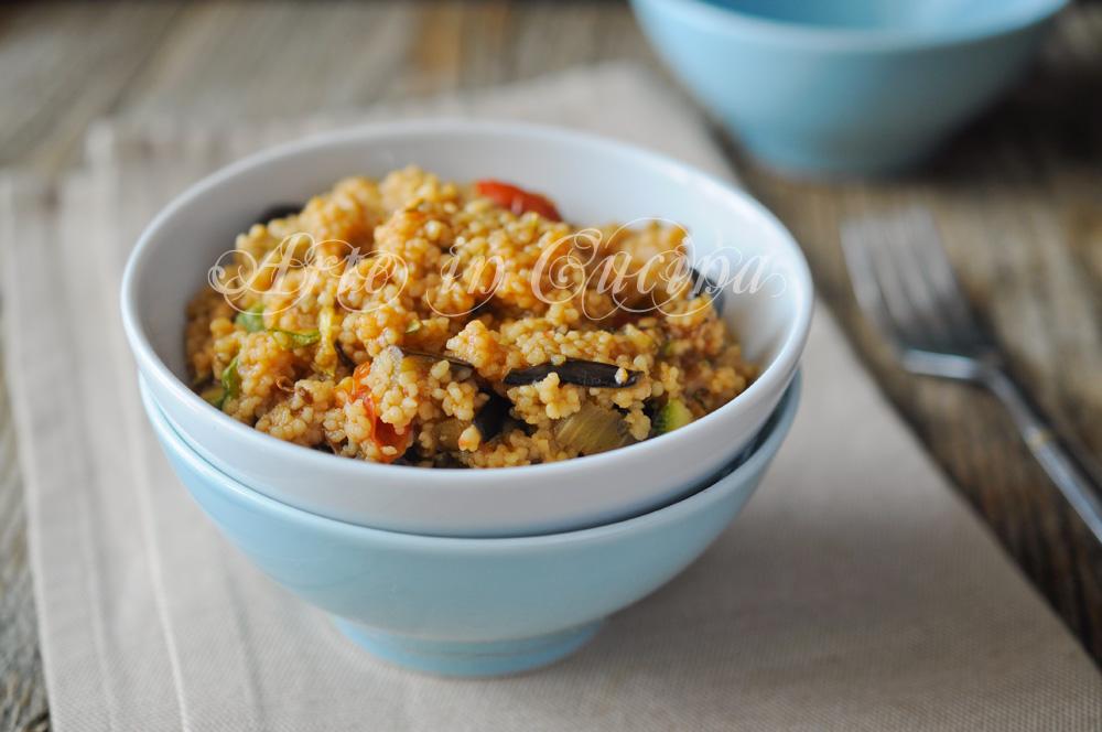 Cous cous con melanzane e zucchine primo alle verdure vickyart arte in cucina