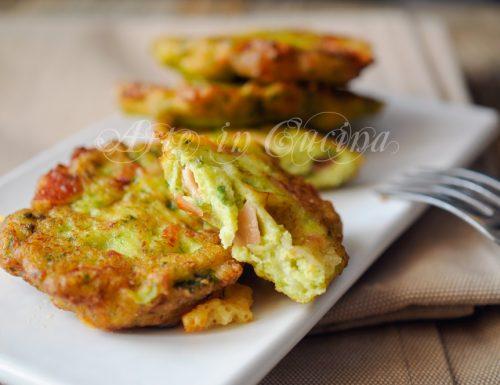 Frittelle con zucchine mortadella e formaggio