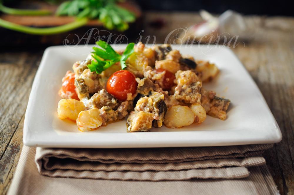 Gnocchi melanzane e ricotta con carne macinata vickyart arte in cucina