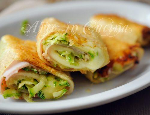 Involtini di lasagna gratinati con zucchine