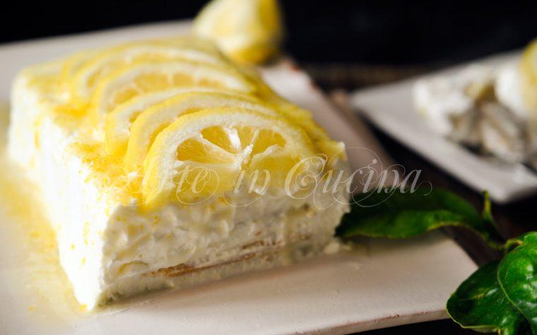 Mattonella al limone con pavesini ricetta facile
