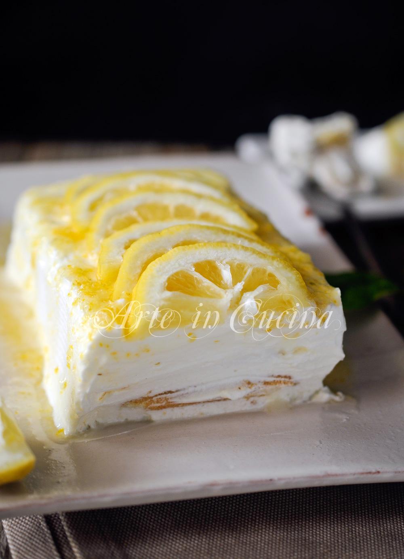 Mattonella al limone con pavesini ricetta facile vickyart arte in cucina