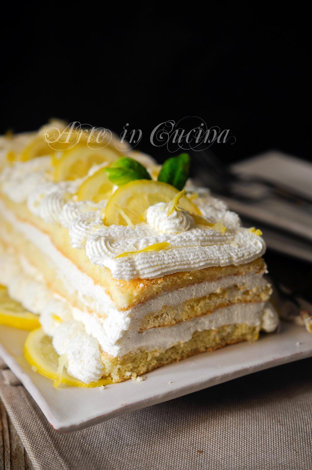 Mattonella semifreddo al limone dolce veloce vickyart arte in cucina