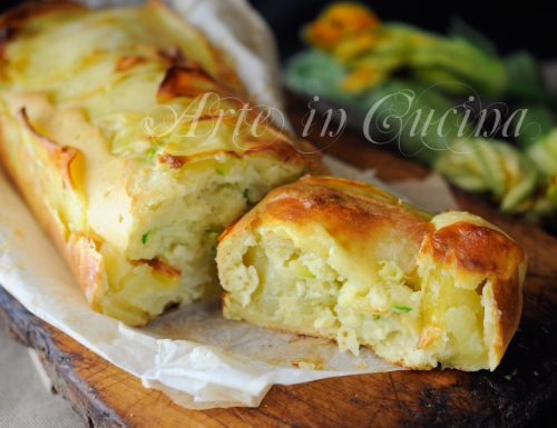 Plumcake di patate e zucchine ai formaggi