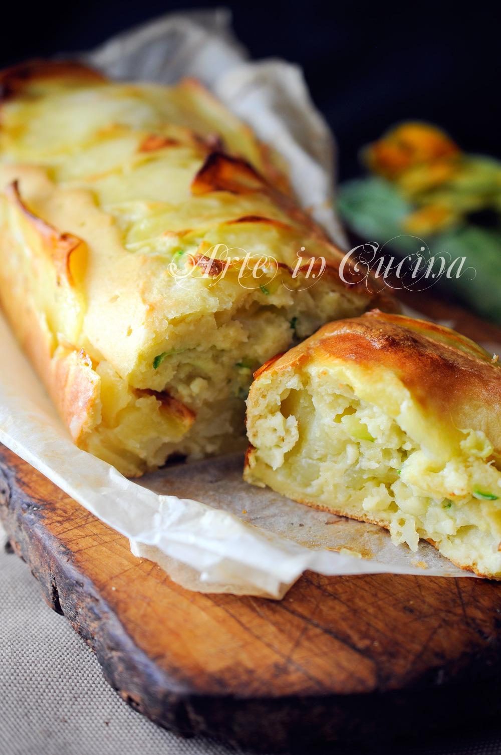 Plumcake di patate e zucchine ai formaggi vickyart arte in cucina