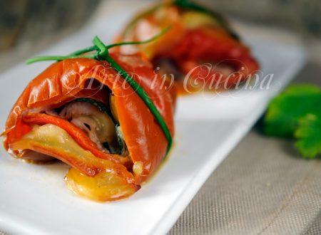 Rotolini di verdure miste farciti antipasto
