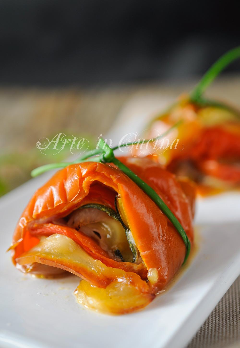 Rotolini di verdure miste farciti antipasto vickyart arte in cucina