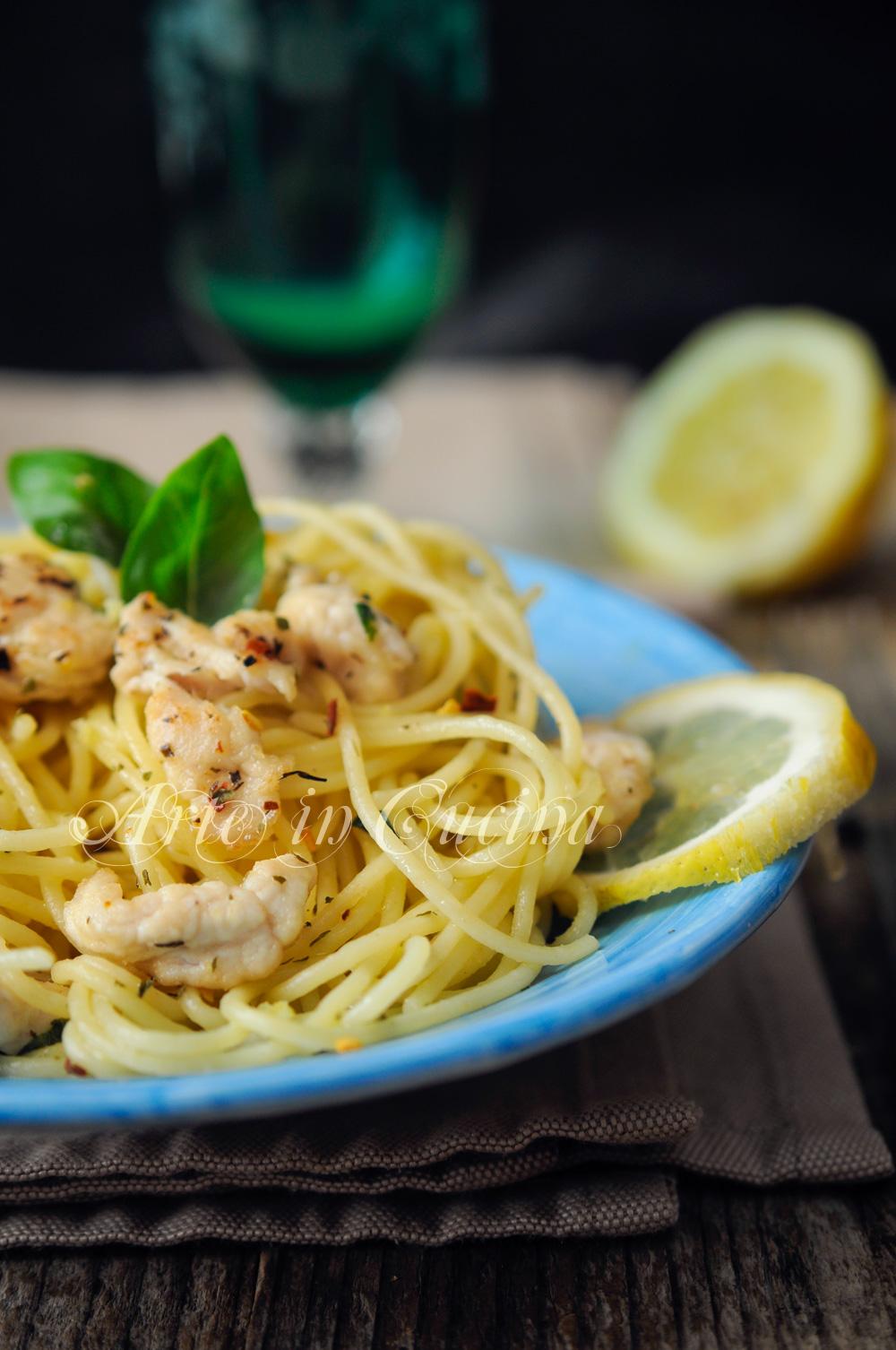 Spaghetti con pollo al limone ricetta veloce vickyart arte in cucina