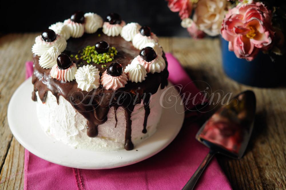Torta biscotti cioccolato e panna ricetta veloce vickyart arte in cucina