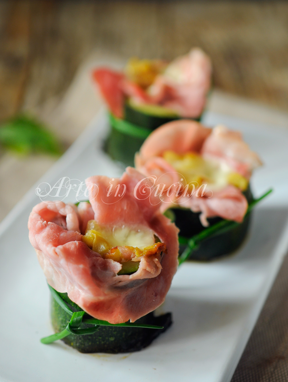 Zucchine farcite veloci con prosciutto e provola vickyart arte in cucina