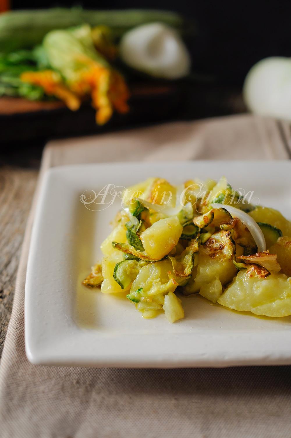 Zucchine trifolate alla paesana con patate vickyart arte in cucina