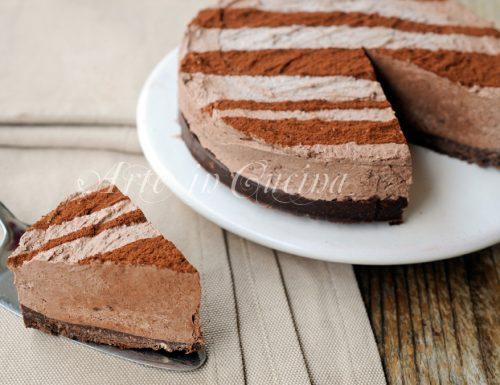 Cheesecake alla ricotta e cioccolato senza forno