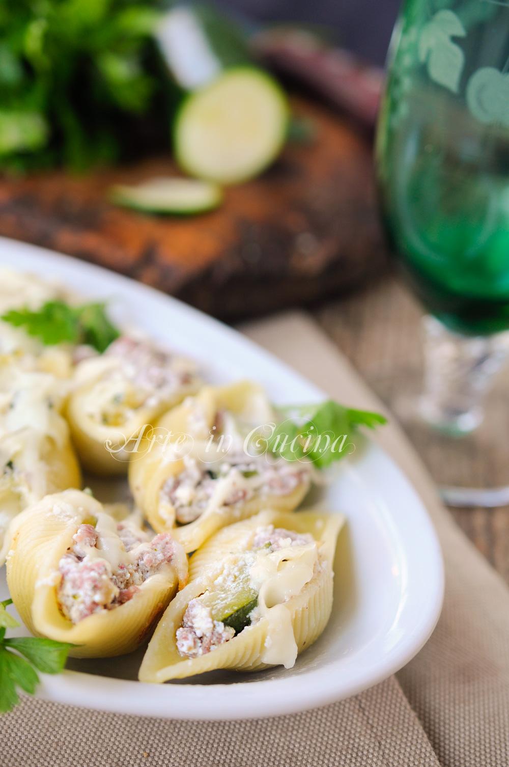 Conchiglioni ripieni con ricotta zucchine e carne vickyart arte in cucina
