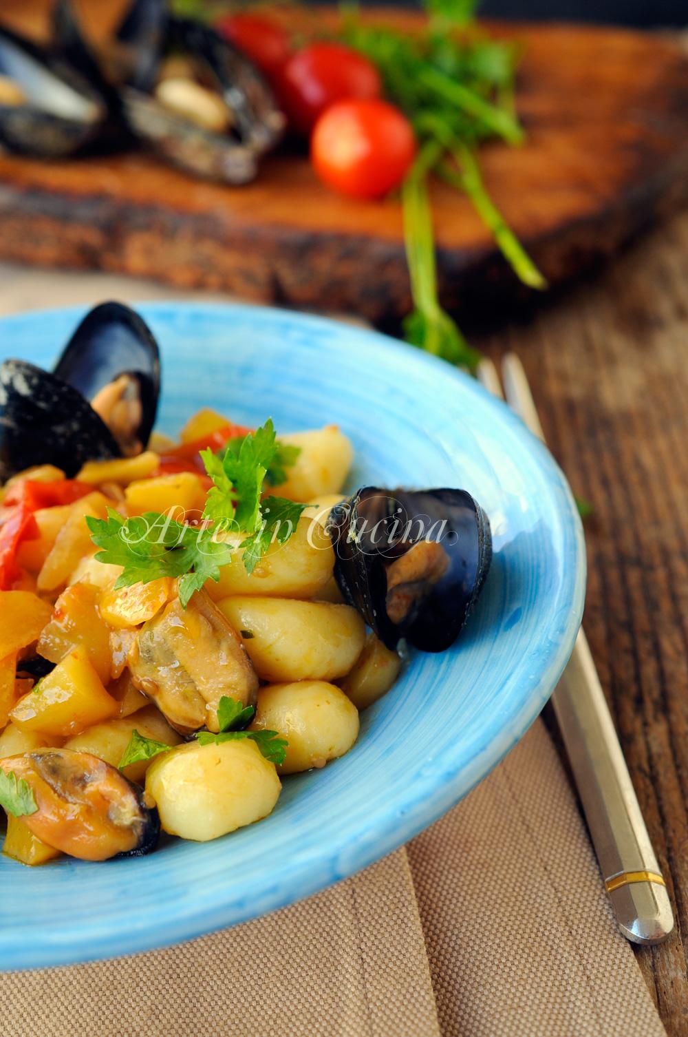 Gnocchi con cozze e patate ricetta facile vickyart arte in cucina