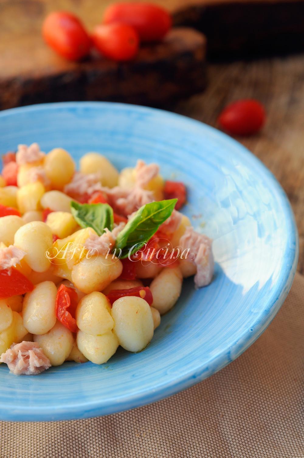 Gnocchi freddi all'insalata ricetta veloce vickyart arte in cucina