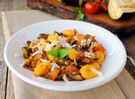 Gnocchi al ragu di verdure ricetta facile