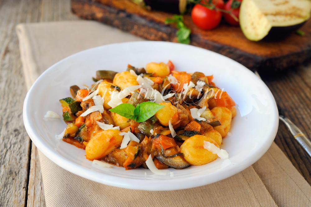 Gnocchi al ragu di verdure ricetta facile vickyart arte in cucina
