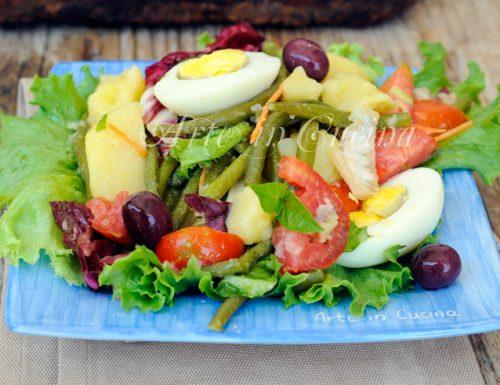 Insalata di fagiolini uova e patate ricetta leggera