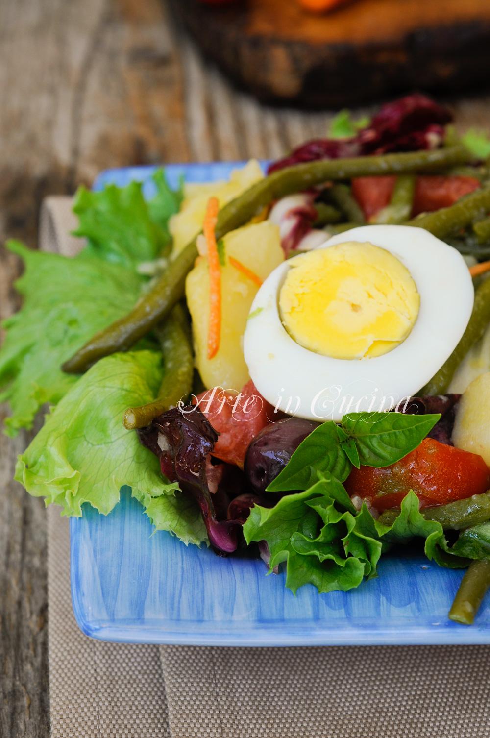 Insalata di fagiolini uova e patate ricetta leggera vickyart arte in cucina