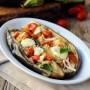 Melanzane ripiene con mozzarella e pomodoro veloci vickyart arte in cucina